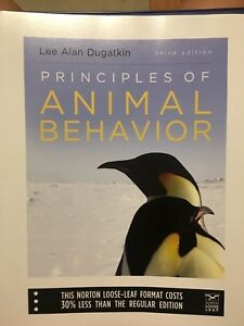 Principles of animal behavior third edition textbook