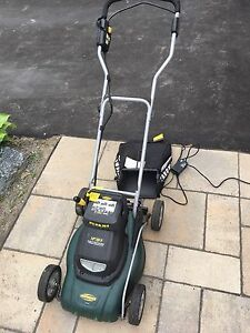Yardworks 24v, 14 inch cut  battery lawnmover- needs battery