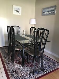 Glass dining table (6 seater)