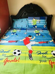 Single/twin soccer player bedsheets