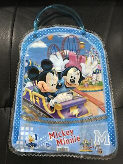 Kids Mickey Minnie Mouse 7 in 1 Stationery Set (Hand Carry Bag)