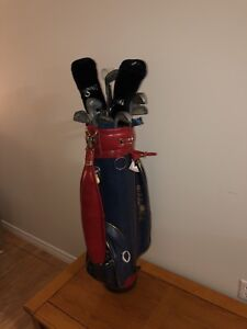 Wilson Golf clubs with Pro Tour Bag and North Western Betty