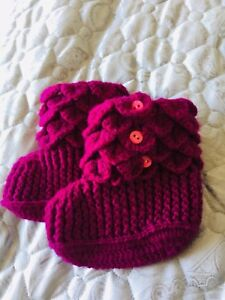 Hand knitted baby booties 12m-18m