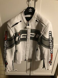 Icon Daytona Leather Motorcycle Jacket SMALL $150 Like NEW!!