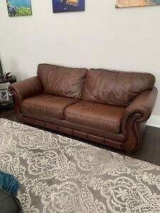 For sale High End brown Campio leather Sofa