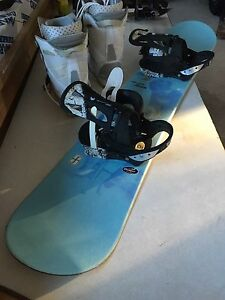 Snowboard and Boots size 10