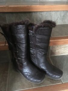 Lined and waterproof boots
