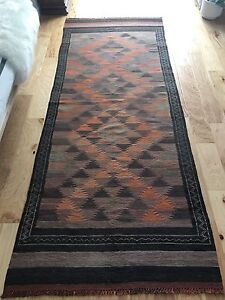 Hand made wool flat weave Persian Killim rug