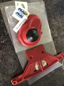 RED RPM Front bumper and gear cover for rustler/bandit 2x4 slash