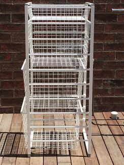 Wire basket drawers