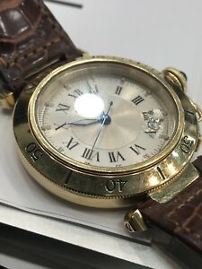 Cartier pasha solid gold perfect condition 41 mm