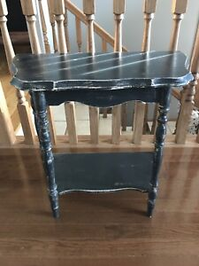 Entrance Table (refinished in a dark grey)