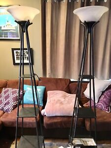 Tall accent shelf lamps