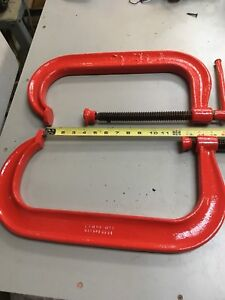 2 Armstrong #412 kickass heavy duty c-clamps