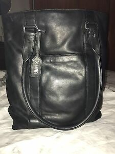 Kikki.K Leather Stockholm collection Tote Black used. Vista Tea Tree Gully Area Preview