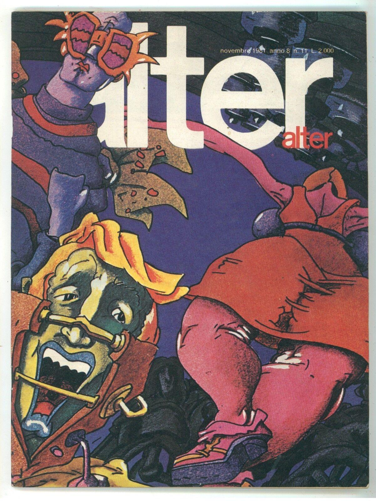 ALTER ALTER NOVEMBRE 1981 NUMERO 11 GUIDO CREPAX LAUZIER SIDNEY JORDAN TARDI