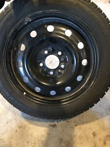 LIKE NEW WINTER TIRES AND RIMS (5 x 114.3)