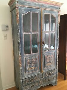 Bedroom set real wood armoire 2night tables