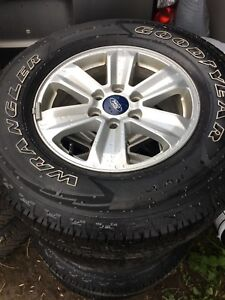 "Ford F-150 17"" OEM 265/70/ 17 ...Wheels and All season tires"