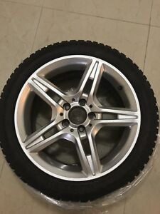 """Winter Package 17"""" Twin 5 Spoke Premium Rims and Winter Tires"""