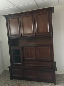 Solid wood buffet hutch