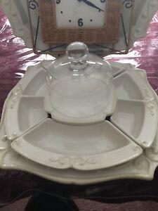 Princess House multi Dish Serving set Pavillion 7 pc set