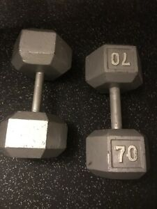 70 Pound Dumbbells