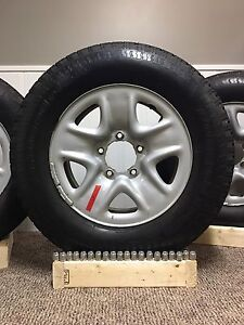 "(4) Toyota Tundra 18"" Rims with BF Goodrich Rugged Trail Tires"