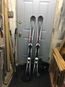 147cm Volkl Skis with 3Motion TP 10.0 Bindings, Solomon boots