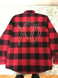 THE WEEKND XO CLASSIC LOGO II RED FLANNEL
