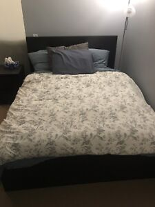 IKEA MALM double bed frame with mattress. Good condition.