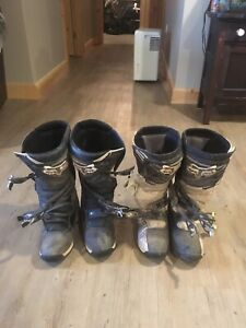 2 pairs Fox comp 5 motocross boots