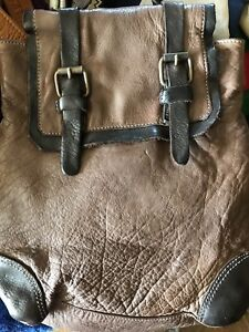 Leather backpack - small