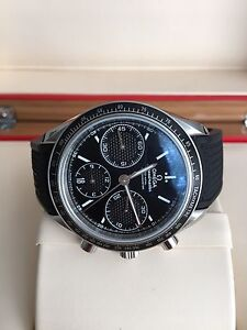 Omega Speedmaster Racing Black Dial with Rubber Strap