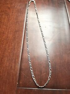 "22"" silver chain necklace"