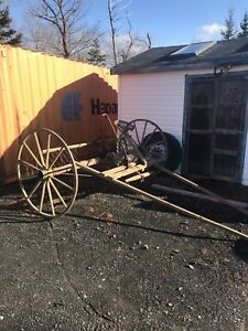 Antique hay rake for behind horse