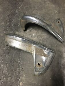 55 CHEV REAR BUMPER/FENDER GUARDS