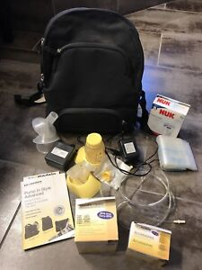 Medela double breast pump gently used