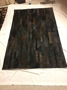 Brand new imported leather rug