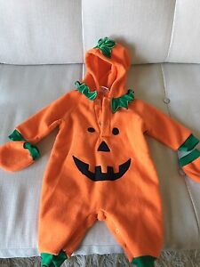 Baby Halloween pumpkin costume