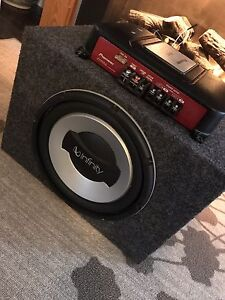 """^** INFINITY 10"""" SUBWOOFER WITH PIONEER AMP IN BOX"""