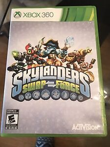 Xbox 360 skylanders game with portal and 7 characters.