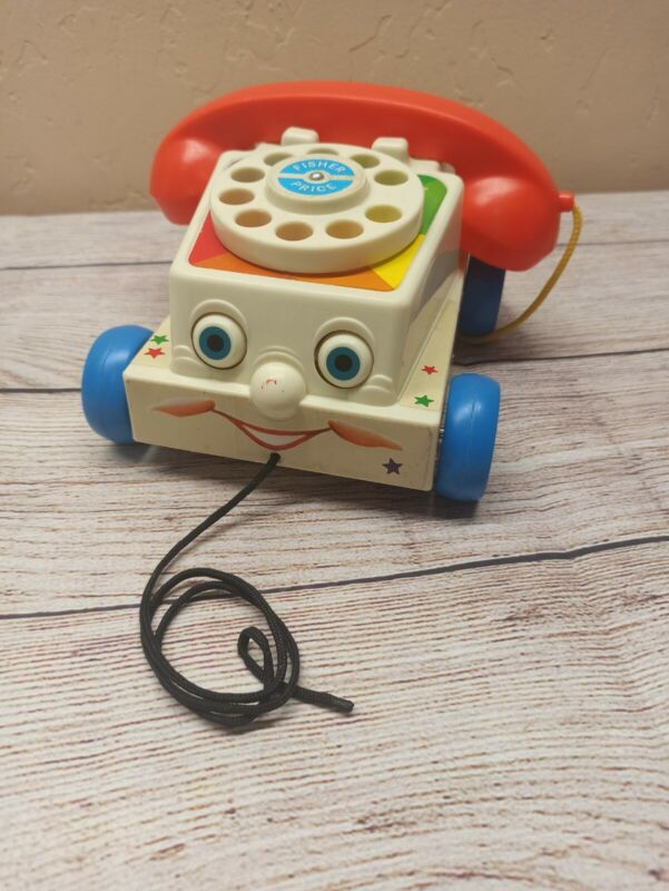 Fisher Price Classics Retro Chatter Telephone Rotary Dial Vintage Toy Phone USED
