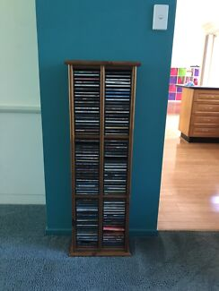Timber cd stand