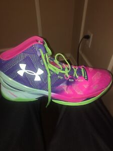 Under Armour Curry 2 Blue Pink Green Shoes