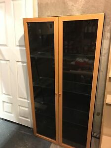 Cabinet with glass shelving