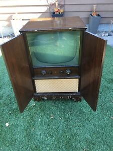 """1950's RCA TV Cabinet Style  """"LOOK"""""""