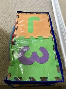Baby alphabet mat and age blocks