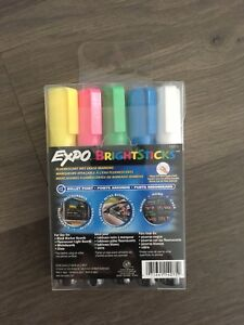 Brand New Expo Fluorescent Wet Erase Markers