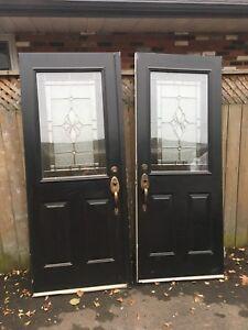 """32""""x80"""" STEEL EXTERIOR DOUBLE DOORS"""